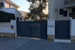 Puerta corredera ,puerta practicable lama Z Miami playa - copia