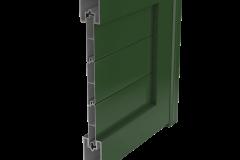 Sección puerta, valla, aluminio soldado