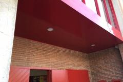 Polideportivo mont roig, falso techo entrada.