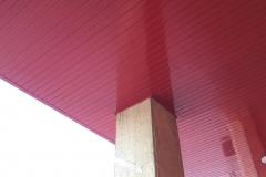 Polideportivo mont roig. Detalle, falso techo entrada.
