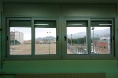 Correderas RPT colegio hospitalet de l`infant. Fachada