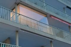 Cortina de cristal- cerrada vista desda la calle-miami playa