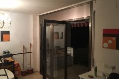 Replegable aluminio inox hoja principal abierta