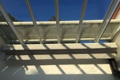 Techo de aluminio y vidrio , Toldo interior, exterior