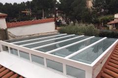 Techo de aluminio y vidrio, vista exterior