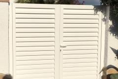 Puerta practicable aluminio soldado lama Z