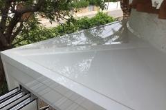 Remate techo curva