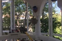 Vista-interior porche redondo